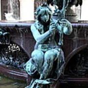 Detail Fountain City Hall  Hamburg Art Print