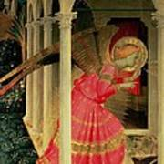 Detail From The Annunciation Showing The Angel Gabriel Art Print