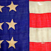 Detail Of A Civil War Flag In Drummer Art Print