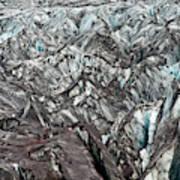 Detail Of Icelandic Glacier Art Print