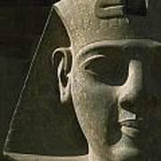 Detail Of Pharaoh Head At Entrance Art Print