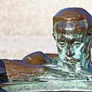 Detail Of Sculpture Art Print by Borislav Marinic