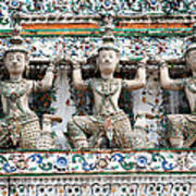Detail Of Temple, Thailand Art Print