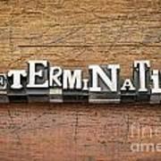 Determination Word In Metal Type Art Print