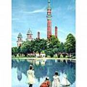 Detroit - Gladwin Waterworks Park - Jefferson Avenue At The Detroit River - 1905 Art Print