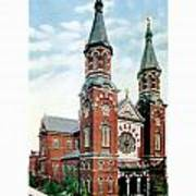 Detroit - St Mary Catholic Church - Monroe Avenue - 1910 Art Print