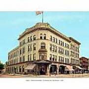 Detroit - The Brunswick Hotel - Grand Rive And Cass Avenues - 1900 Art Print
