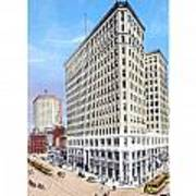 Detroit - The Lafayette Building - Michigan Avenue Lafayette And Shelby Streets - 1924 Art Print