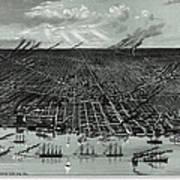 Detroit Aerial View 1889 Art Print
