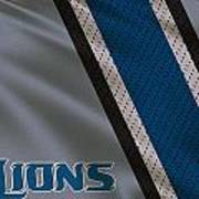 Detroit Lions Uniform Art Print