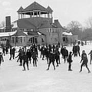 Detroit Michigan Skating At Belle Isle Art Print