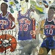Detroit Pistons Bad Boys  Art Print