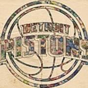 Detroit Pistons Poster Art Art Print