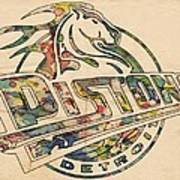 Detroit Pistons Retro Poster Art Print