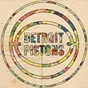 Detroit Pistons Vintage Logo Art Print