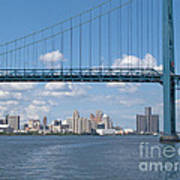 Detroit River Crossing Art Print