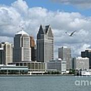 Detroit Riverfront Art Print