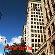 Detroit Sky Line Art Print