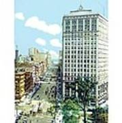 Detroit - The David Whitney Building - Woodward Avenue - 1918 Art Print