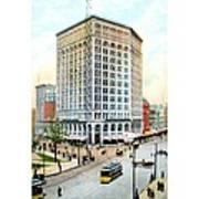 Detroit - The Majestic Building - Woodward Avenue - 1900 Art Print