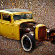 Deuce Coupe On Rust  Art Print