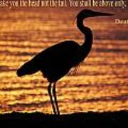 Deuteronomy 28 Verse 13 Art Print