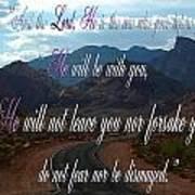 Deuteronomy 31 Verse 8 Art Print