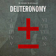 Deuteronomy Books Of The Bible Series Old Testament Minimal Poster Art Number 5 Art Print by Design Turnpike