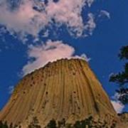 Devils Tower As A Volcano Art Print
