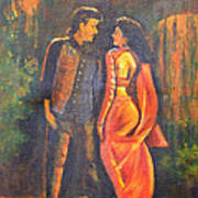Dhak Dhak Art Print