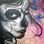 Dia De Los Muertos Chica Art Print