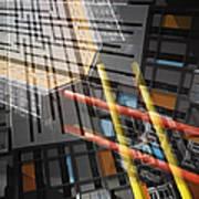 Diagonal Mondrian Art Print