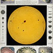 Diagram Of The Sun With Sunspots C Art Print