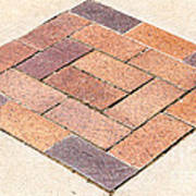 Diamond Bricks Art Print