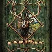 Diamond Elk Art Print
