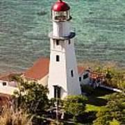 Diamond Head Lighthouse Honolulu Art Print