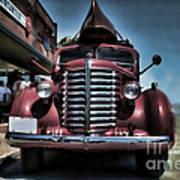 Diamond T Vintage Truck Art Art Print