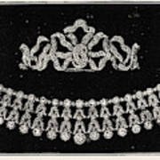 Diamond Tiara, Necklace, And Ear Rings Presented Art Print