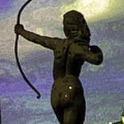 Diana-goddess Of The Hunt On B Street Art Print