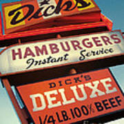 Dick's Hamburgers Art Print