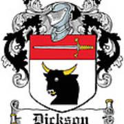 Dickson Coat Of Arms Dublin Art Print