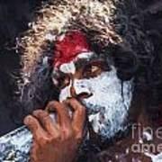 Didgeridoo player Art Print