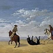 Diez, Joaqu�n 1840. Derribo De La Art Print