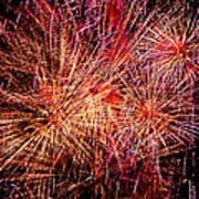 Diffuse Fireworks  Art Print