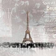 Digital-art Eiffel Tower II Art Print