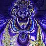 Digital Loop Entity Art Print
