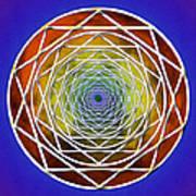 Digital Pentagon Wormhole Art Print