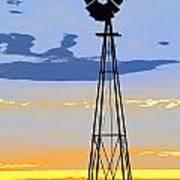 Digital Windmill-vertical Art Print