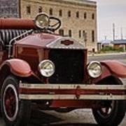 Dillon Montana Vintage Fire Truck Art Print