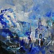 Dinant In Blue Art Print